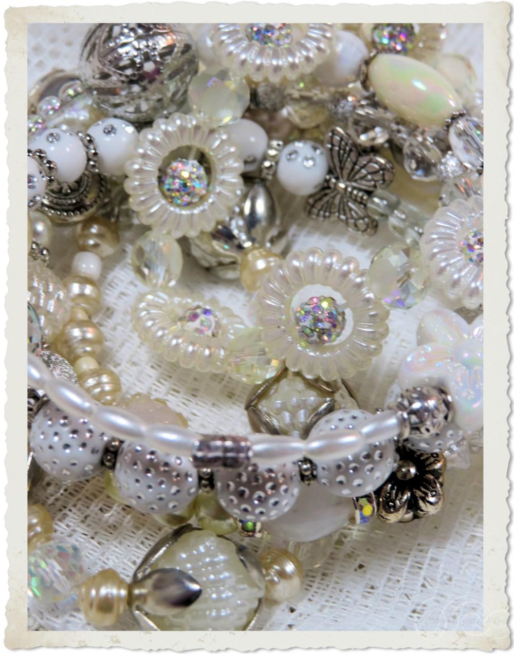 White strass bracelet details
