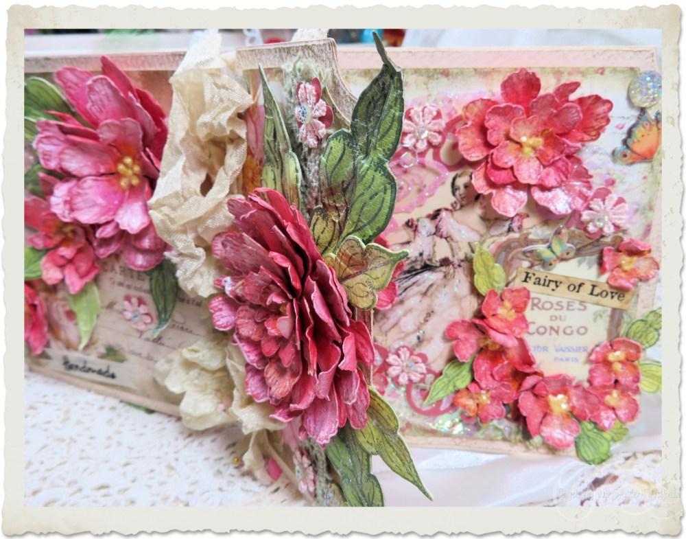Details of handmade paper peonies by Ingeborg van Zuiden