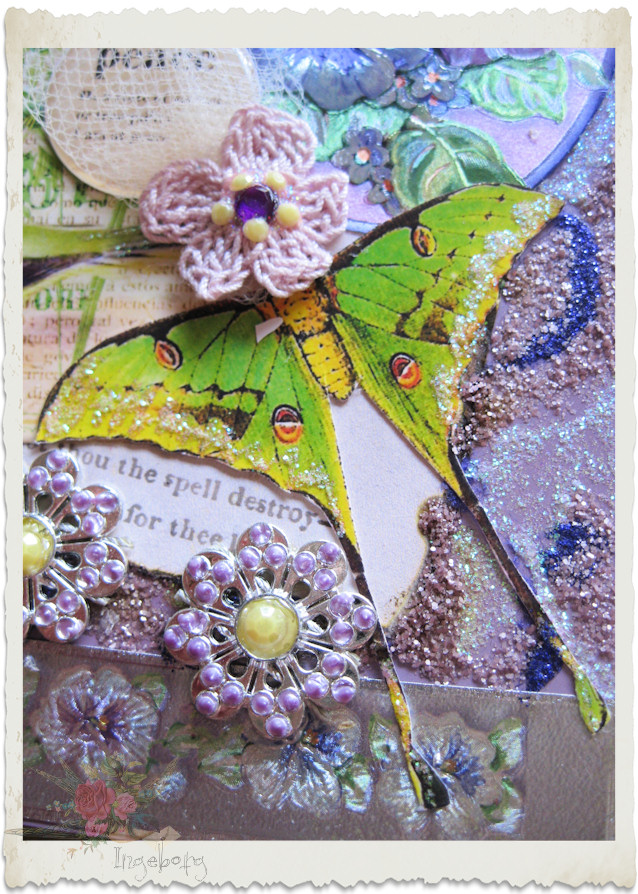 CRochet flower and butterfly