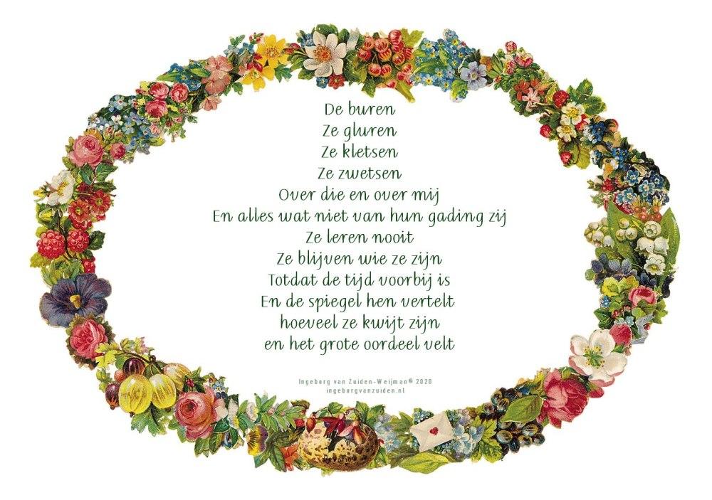 Gedicht 'De Buren' door Ingeborg van Zuiden