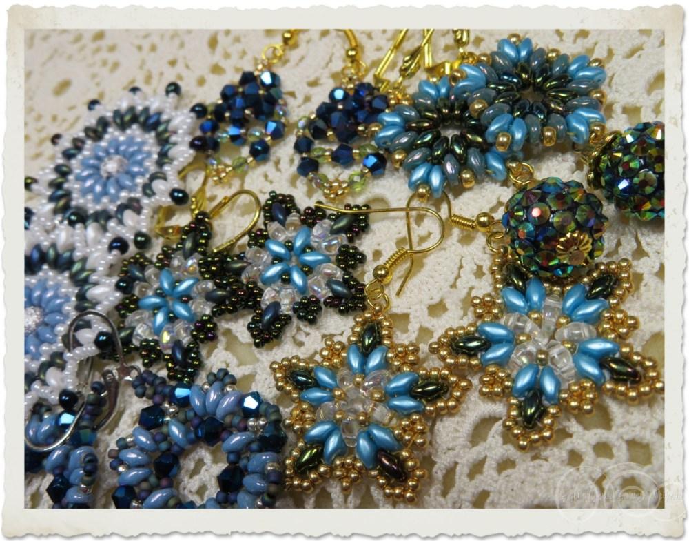 Blue earrings by Ingeborg