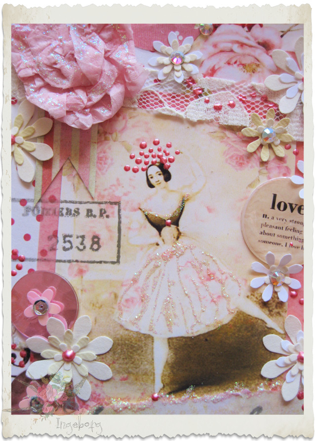 Pretty pink ballerina card
