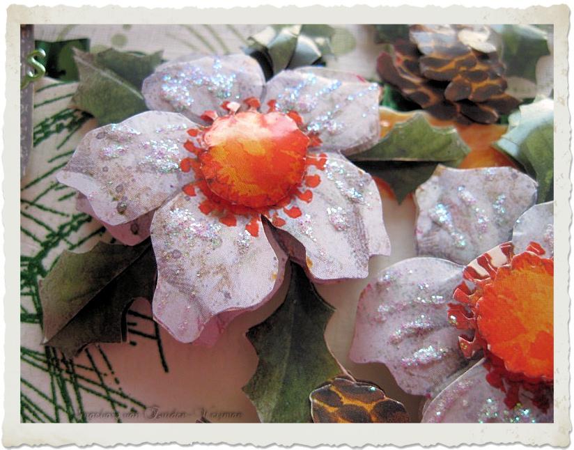 3d Christmas flowers