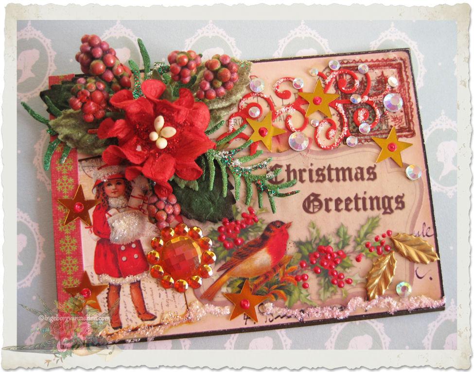 Handmade artist trading card for Christmas