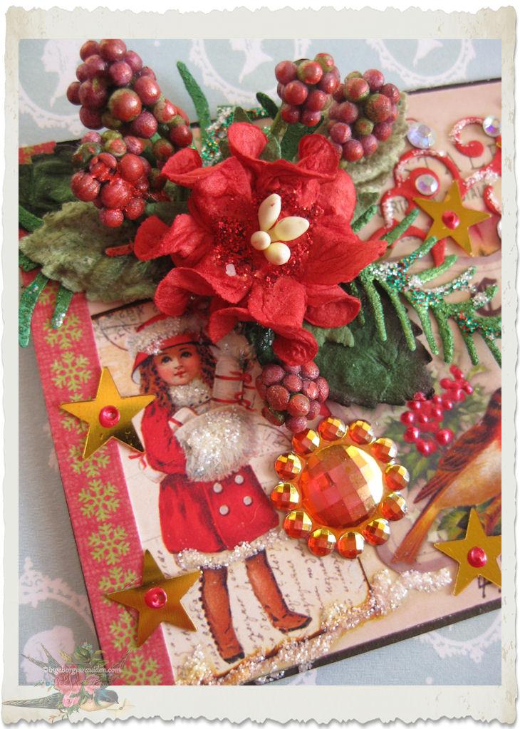 Christmas mixed media ATC ACEO