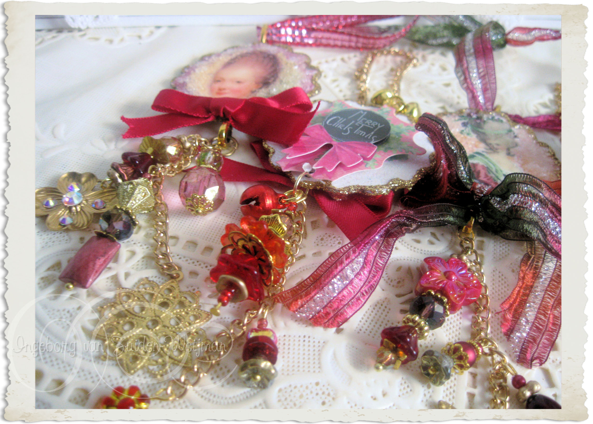 ribbons and beads
