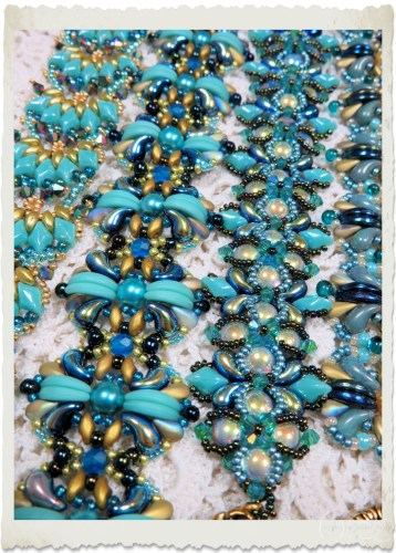Turquoise blue beaded bracelets