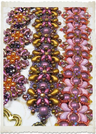 Purple gold Zoliduo bracelets by Ingeborg van Zuiden