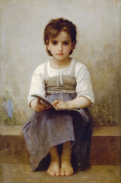 """""""The Difficult Lesson"""" by William-Adolphe Bouguereau"""