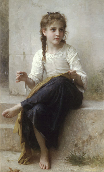 """Sewing"" by William-Adolphe Bouguereau"