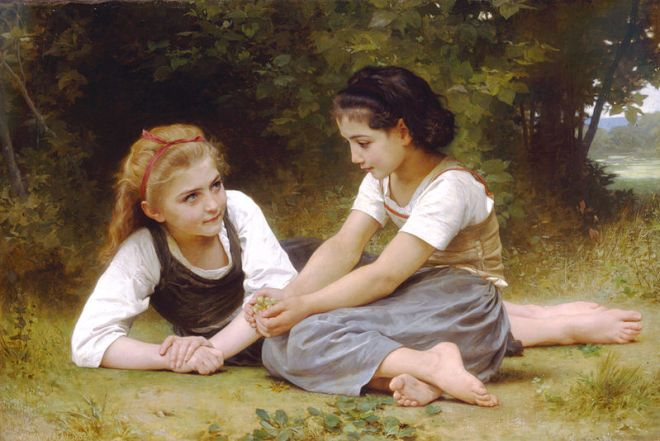 """The Nut Gatherers"" by William-Adolphe Bouguereau"
