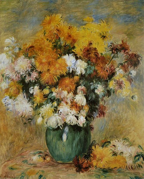 """Bouquet of Chrysanthemums"" by Pierre-Auguste Renoir"