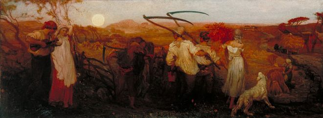 """The Harvest Moon"" by George Hemming Mason"