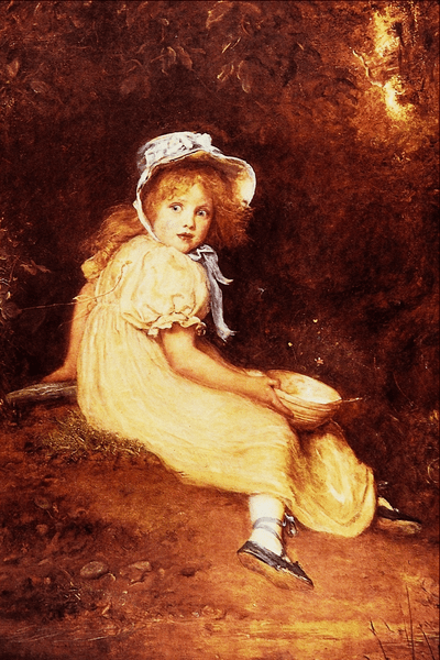 """Little Miss Muffet"" by John Everett Millais"