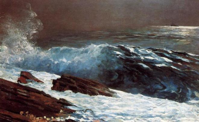 """Sunlight on the Coast"" by Winslow Homer"