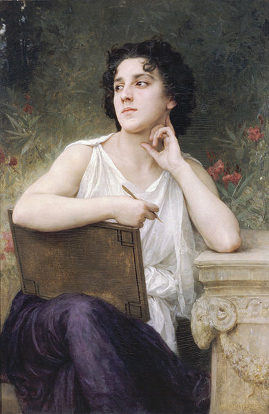 """Inspiration"" by William-Adolphe Bouguereau"
