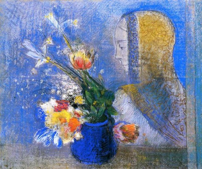 """Meditation"" by Odilon Redon"