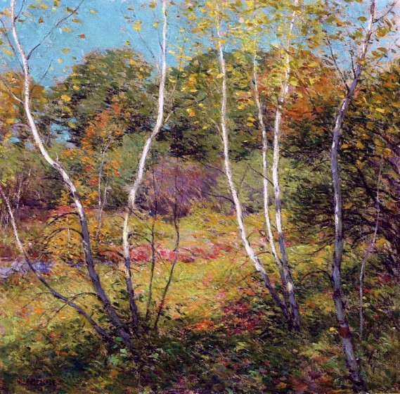 """Waning Summer"" by Willard Metcalf"
