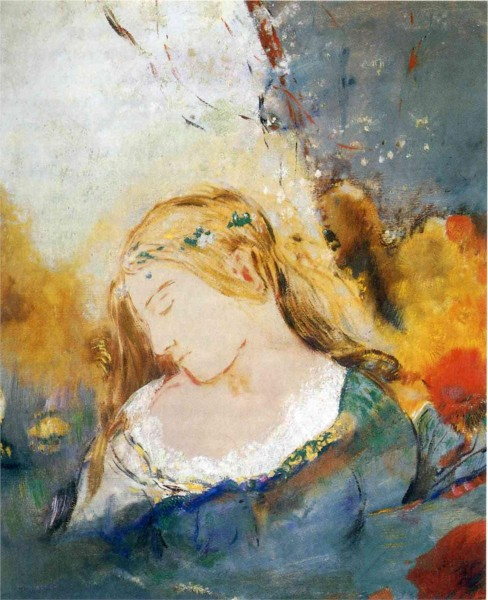"""Ophelia"" by Odilon Redon (1840-1916) French Symbolist Painter & Printmaker"