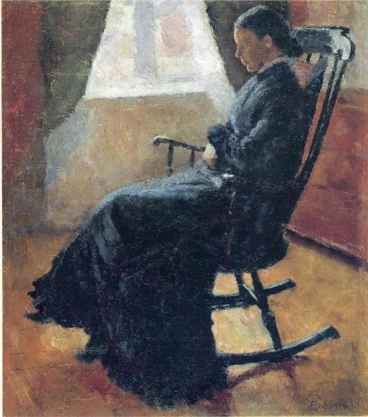 """Aunt Karen in the Rocking Chair"" by Edvard Munch (1863-1944) Norwegian Painter & Printmaker"