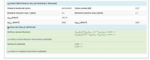 pilastro legno - risultati verifiche - ingegnerone.com