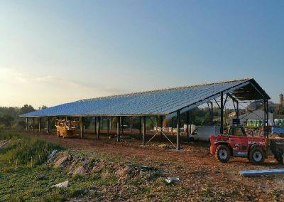 Hangars agrivoltaiques