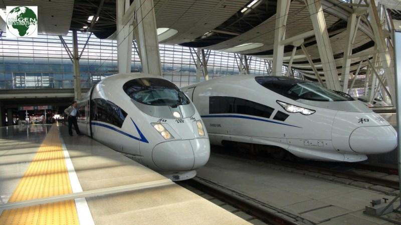 Højhastighedstoget mellem Beijing og Shanghai