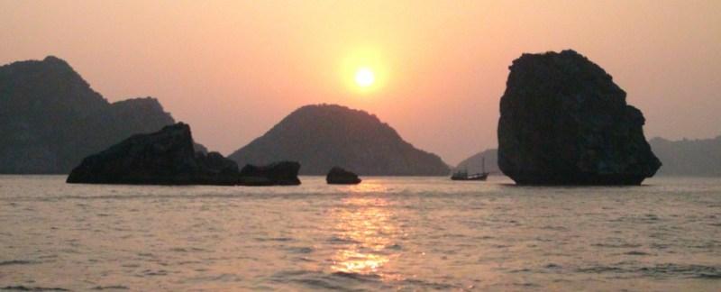 Cat ba, ø, island, vietnam, halong bay, strand, bådtur