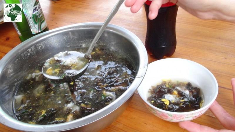 Æg og tang suppen