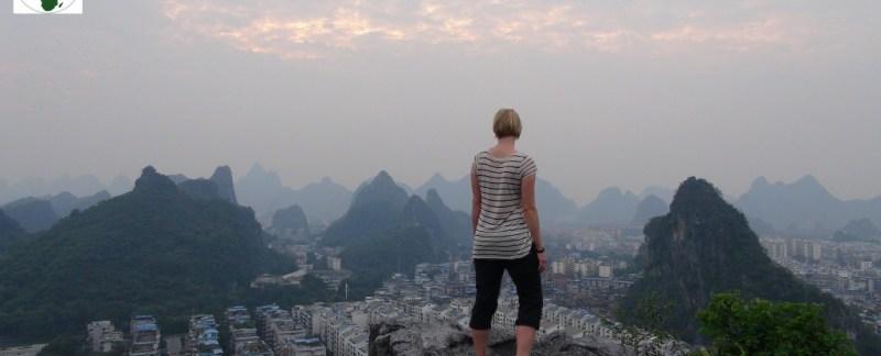 Guillin kina china trek to the limestone mountain sunset
