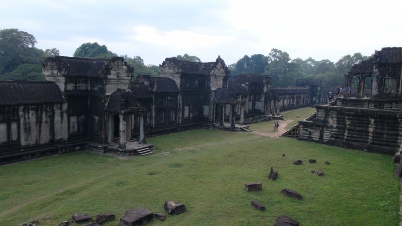 Cykling til Angkor Wat, Siem Reap, Cambodia