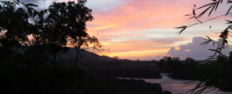 bådtur på mekong floden, mekong river, boattrip