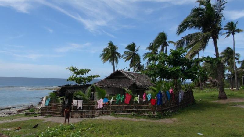 filippinerne, solskin, backpacking, strand, higatangan island, tyfon