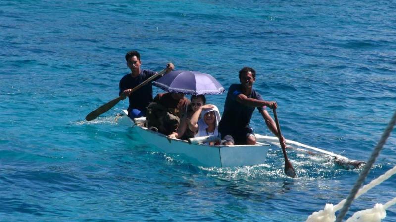 filippinerne, apo island, båd
