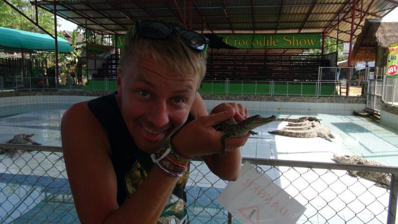 chiang mai, krokodille show