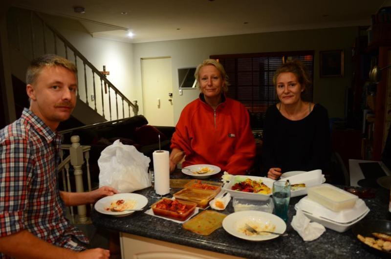 """Fantastisk indisk middag på vores sidste aften """"down under"""" - i denne omgang!"""