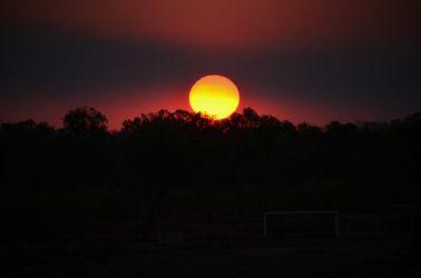 Australien, solnedgang, sunset