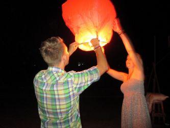 thailand, lanterne, koh tao