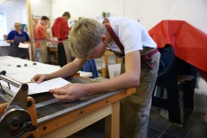 Red Hot Press, a printmaking workshop for a school group