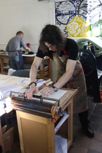 Printmaking workshop at Red Hot Press