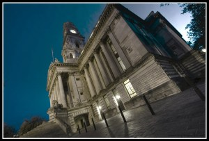 Guildhall at night
