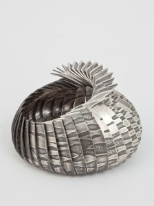 Etched silver bowl by Karina Gill