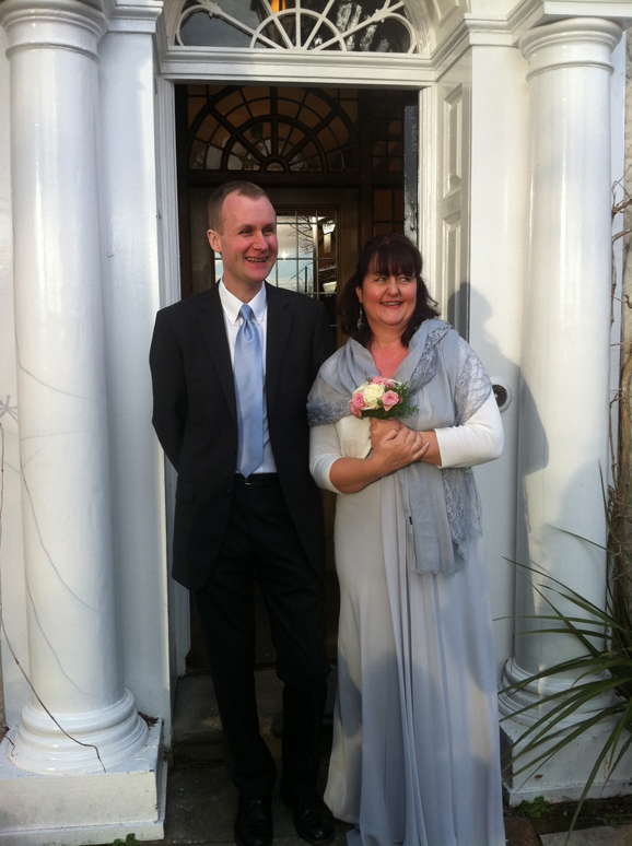 Polly & Lee, the happy couple