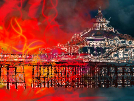 Pier Fire by Viv Cecil
