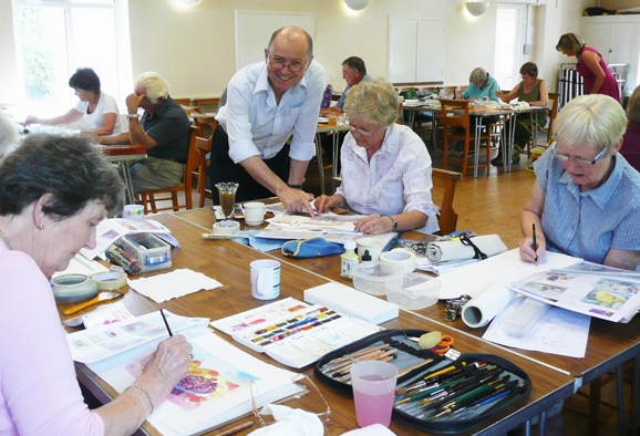 Watercolour class with John Hill