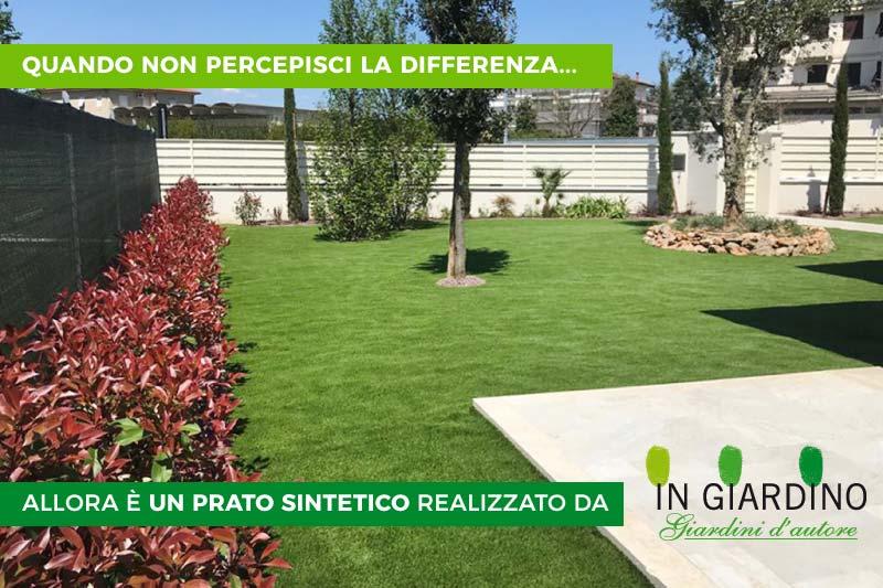 Prato sintetico per giardino posa professionale a Forte