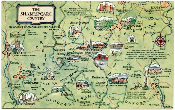 Mapa de Inglaterra de shakespeare