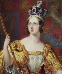 Retrato de la coronación de la Reina Victoria