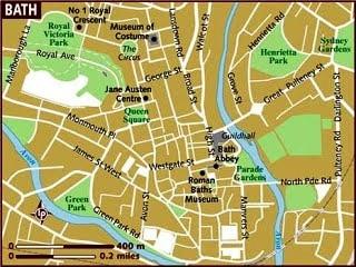 Mapa de Bath