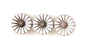 Anton Michelsen three daisy brooch, sold by Inglenookery